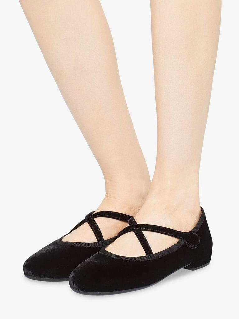 Miu Miu Crossover Strappy Ballerinas