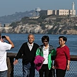 San Francisco's Alcatraz was closed because of the government shutdown, so tourists snapped pictures from the waterfront.