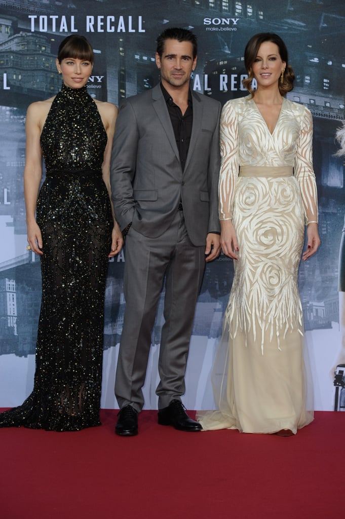 Jessica and Kate Go Black-Tie For Total Recall's German Debut