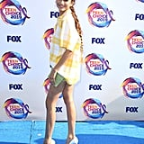 Zendaya Long Braid Hairstyle at Teen Choice Awards