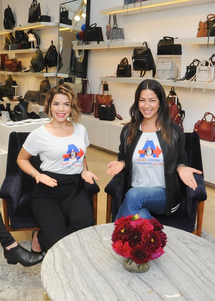 America Ferrera and Rebecca Minkoff