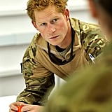 In November, Prince Harry got briefed on a mission at Camp Bastion, Afghanistan.