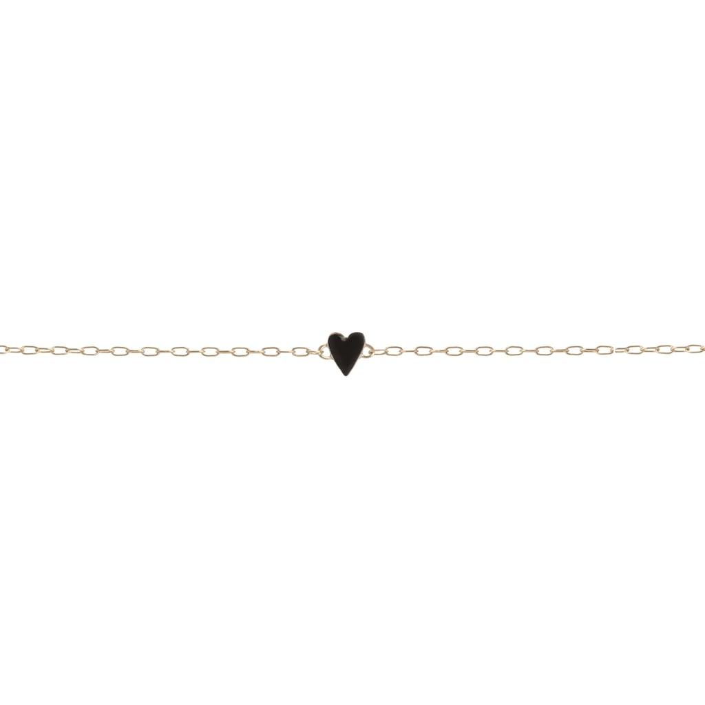 Jennifer Fisher Mini Gold Border Enamel Heart Bracelet