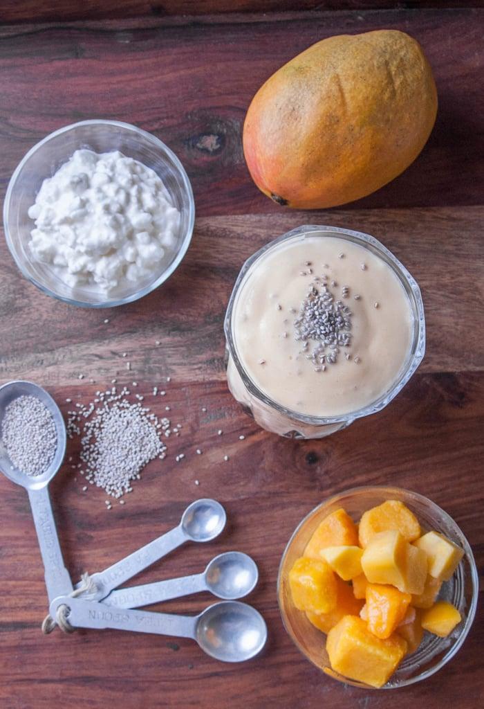 Mango Chia Lassi Smoothie