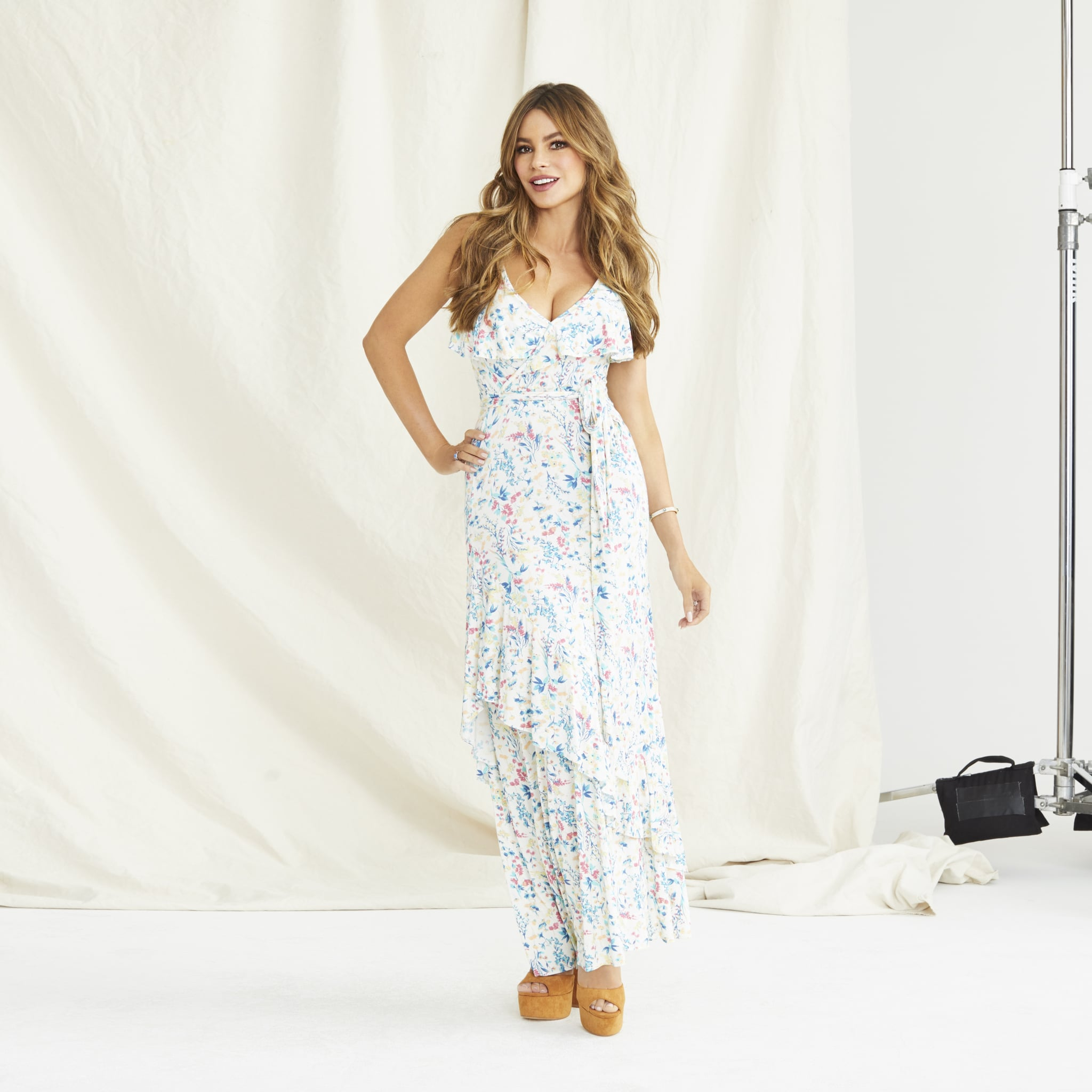 a62ce0fa509 Sofia Jeans by Sofia Vergara Eyelet Embroidered Off-the-Shoulder Midi Dress