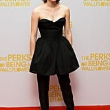 Emma Watson caused a stir when she wore a Christian Dior Couture gown over trousers for the London premiere of The Perks Of Being A Wallflower,