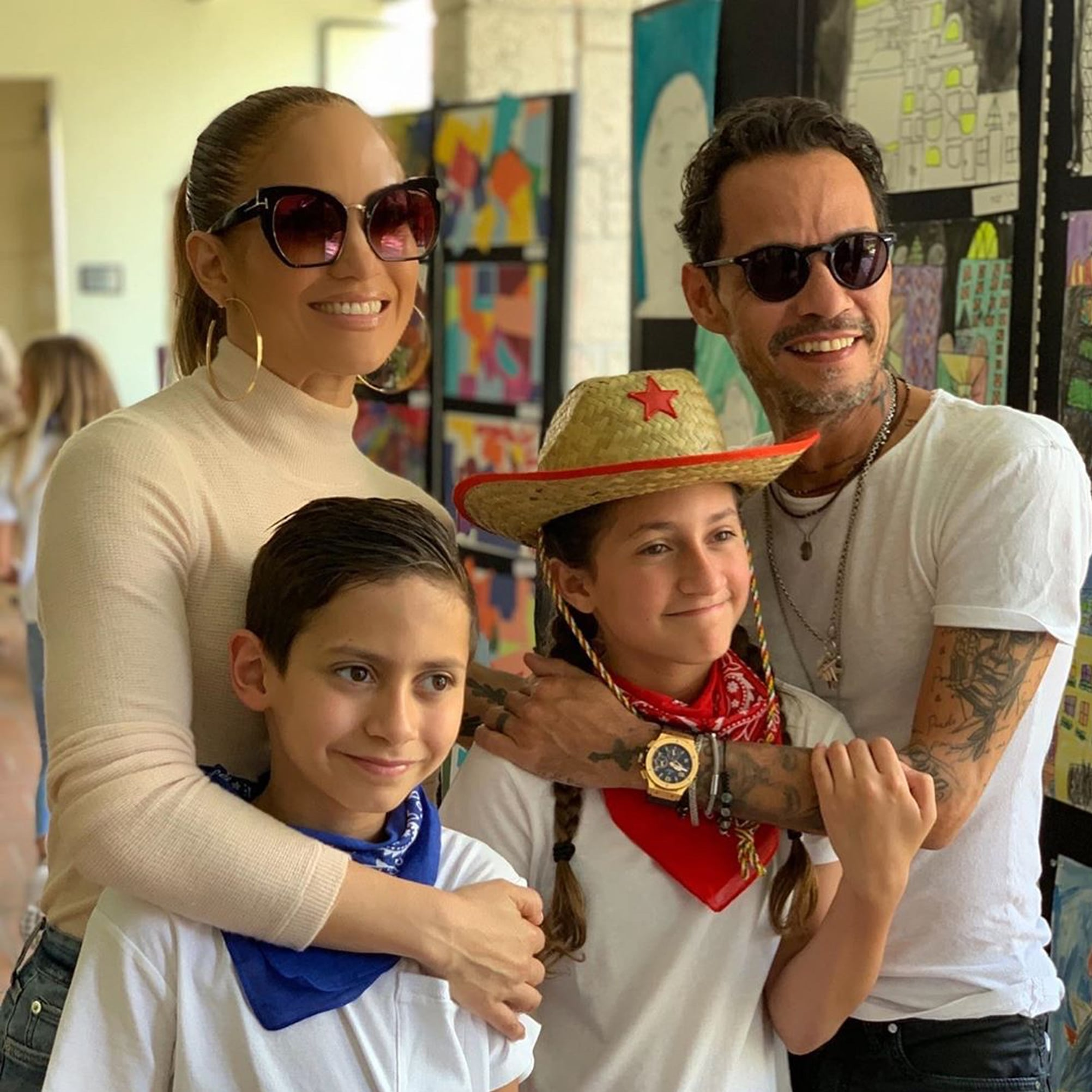 J Lo And Arod Wishing Marc Anthony A Happy Father S Day 2019 Popsugar Family