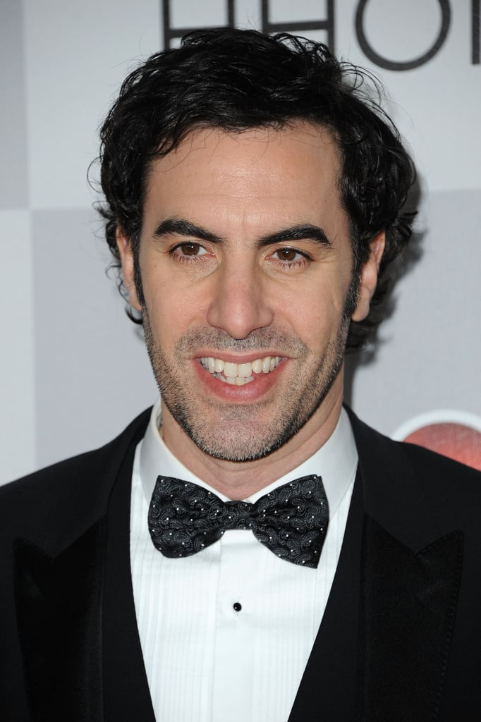 Sacha Baron Cohen arrived at the NBC afterparty.