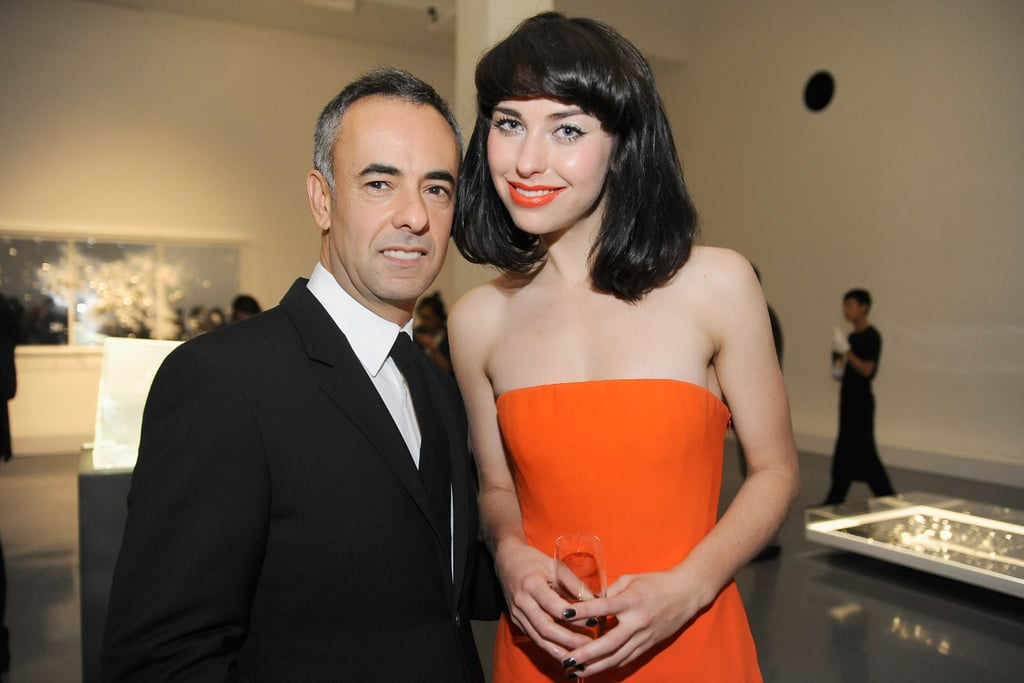 Women's creative director of Calvin Klein, Francisco Costa, posed with Kiwi singer Kimbra at a Calvin Klein Collection dinner in Beijing on November 12.