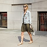 Gladiator Sandals to Meet Your Tunic and Denim Jacket