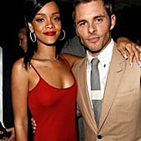 Rihanna linked up with James Marsden at GQ's afterparty.
