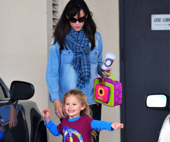 Slide Photo of Jennifer Garner and Violet Affleck After School in LA