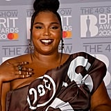 Lizzo's Hershey's Chocolate Nail Art at the 2020 BRIT Awards