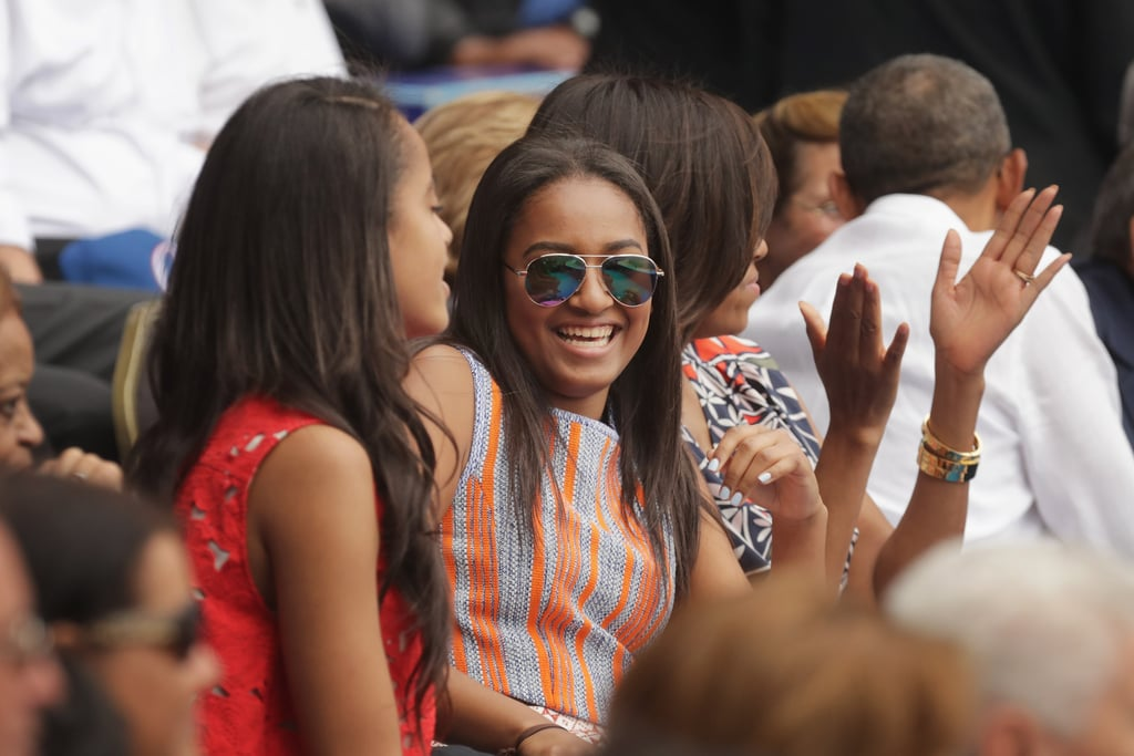 Obama Family at a Baseball Game in Cuba March 2016