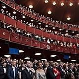 The Kennedy Center was filled with people for the ceremony.