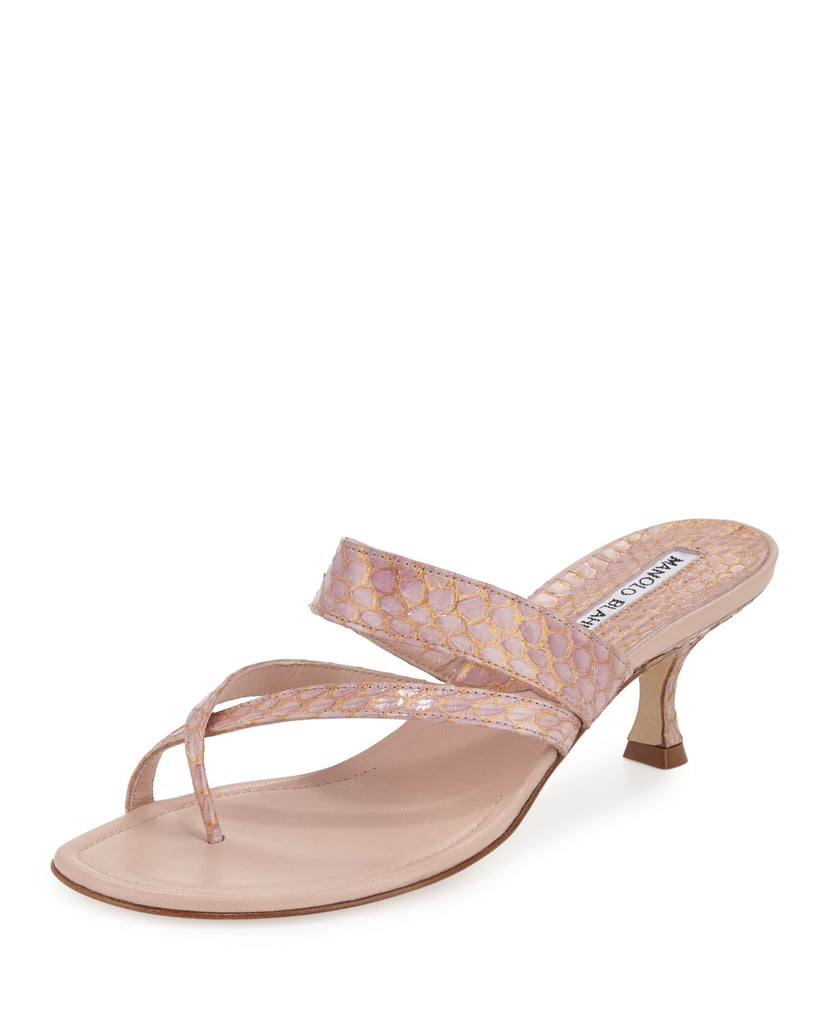 Manolo Blahnik 2017 Susa Snakeskin Sandals w/ Tags buy online outlet discount fast delivery low price cheap price q3bun