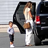 Pregnant Gisele Bundchen Packs Up With Jack and Ben