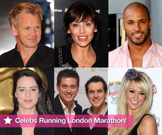 Photos of Celebrities Running the London Marathon 2010 Including Gordon Ramsay, Princess Beatrice, Sophie Reade, Ricky Whittle