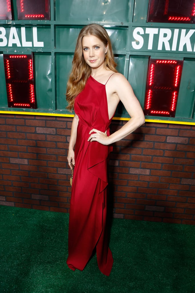 Amy Adams wore a red gown to her Trouble With the Curve premiere in LA.