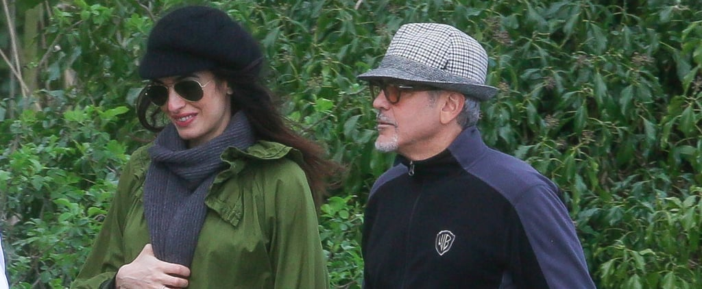 George and Amal Clooney Hold Hands During a Stroll Through the English Countryside