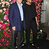 Robert De Niro and his wife Grace Hightower arrived to the Chanel dinner party at the 2012 Tribeca Film Festival.