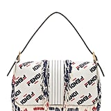 Fendi x FILA Logo Beaded Trim Baguette in White