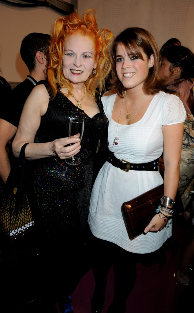 With Vivienne Westwood at the Fashion For Relief show during London Fashion Week in September 2008.