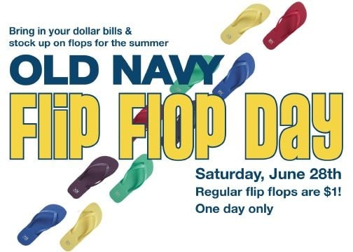 On Our Radar: Old Navy Flip Flops For a Buck!