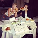 Julianne Hough and Nina Dobrev indulged after a night of high fashion at the Met Gala. Source: Instagram user juleshough