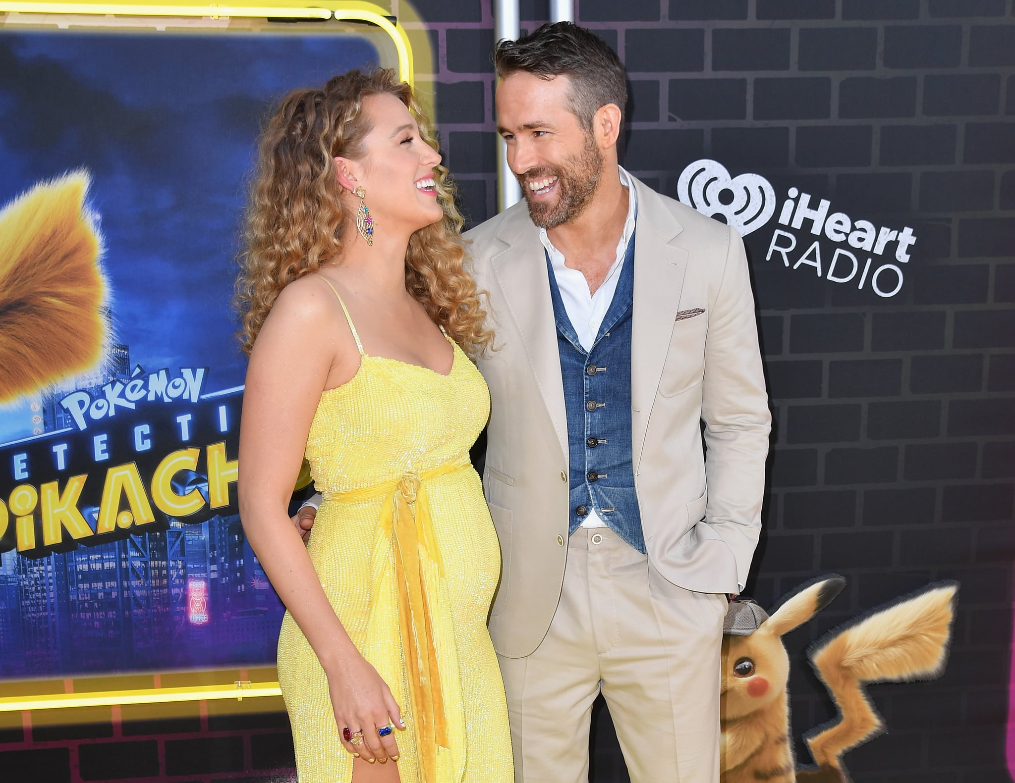 US actor Ryan Reynolds and his wife actress Blake Lively attend the premiere of