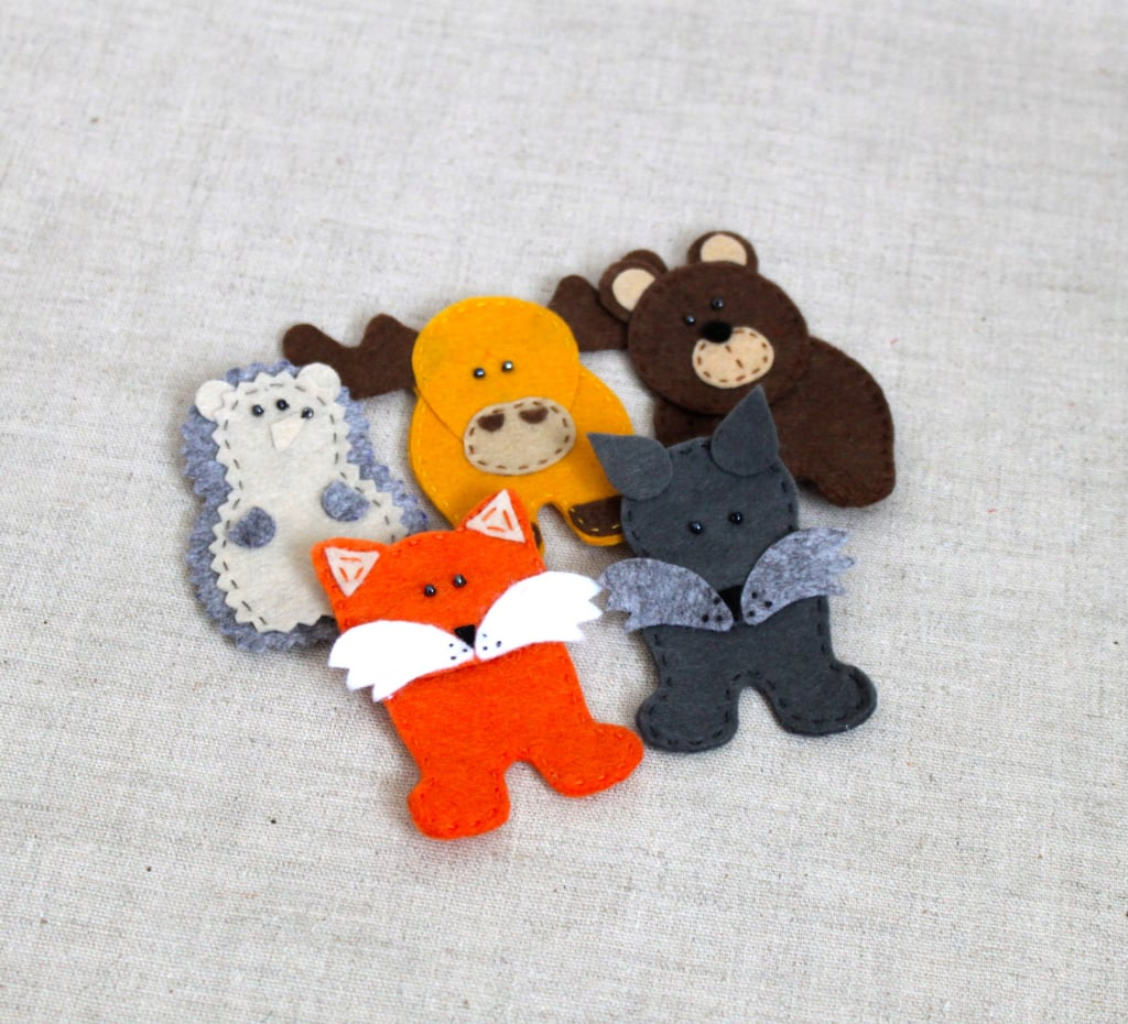 Miracle Inspiration Felt Forest Animal Finger Puppets ($17 for a set of five)