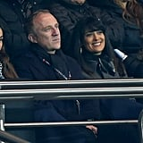 Salma Hayek was all smiles as she watched the game.