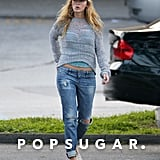 Blake Lively wore a baseball cap during a grocery shopping trip with Ryan Reynolds in New York.