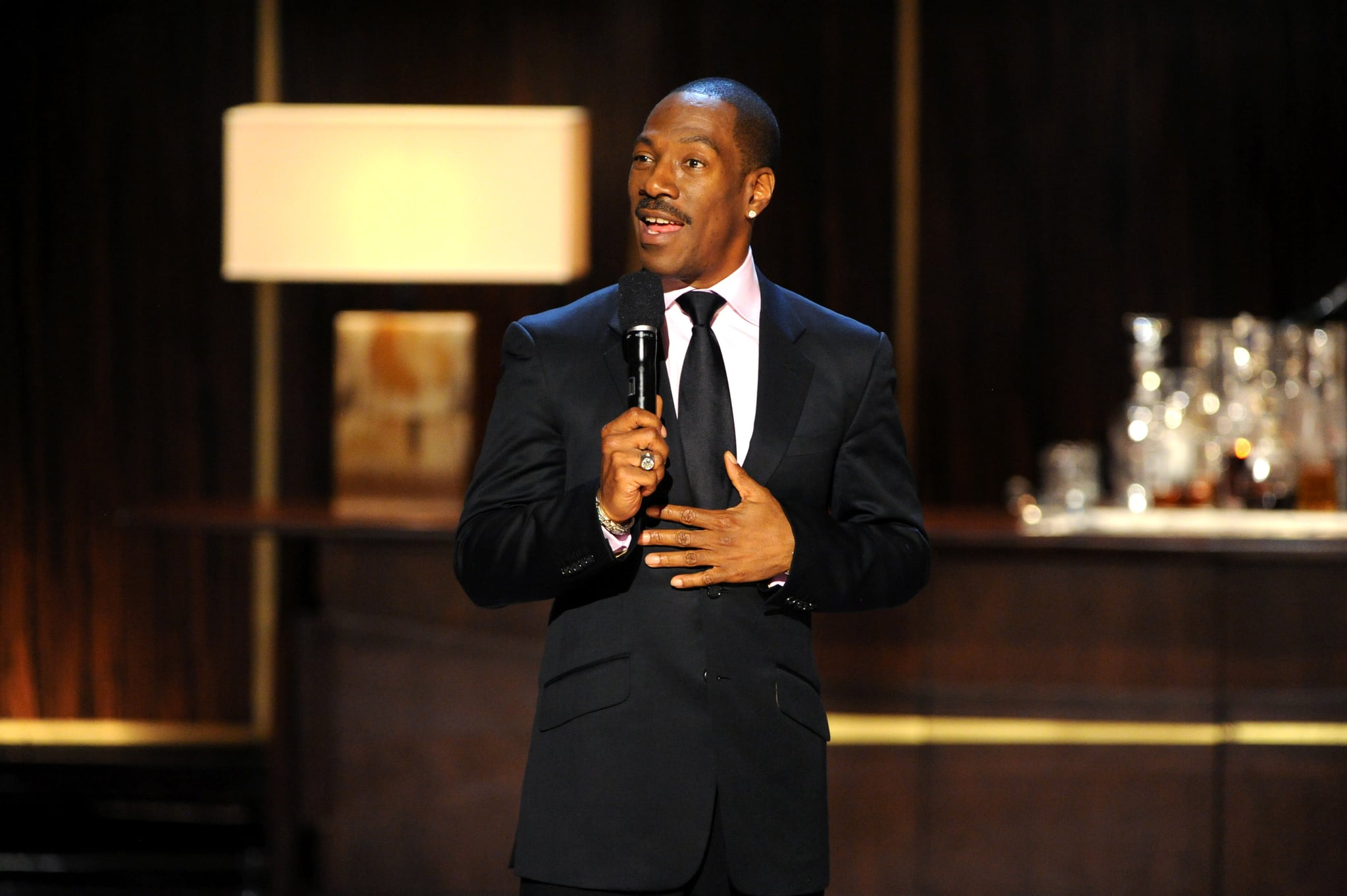 BEVERLY HILLS, CA - NOVEMBER 03:  Honouree Eddie Murphy speaks onstage at Spike TV's