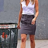 Photos of Jennifer Aniston on the Set of The Bounty in LA