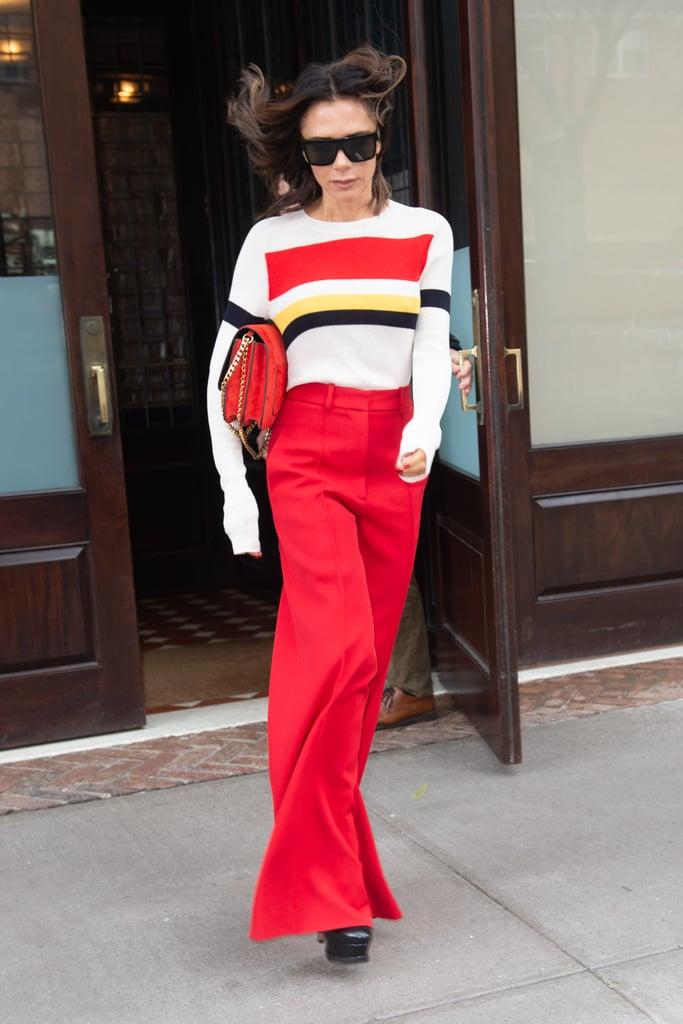 Victoria Beckham's Red Pants November 2018