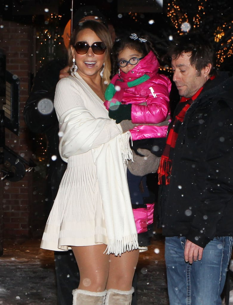 Mariah couldn't help but smile while holding Monroe in her arms.