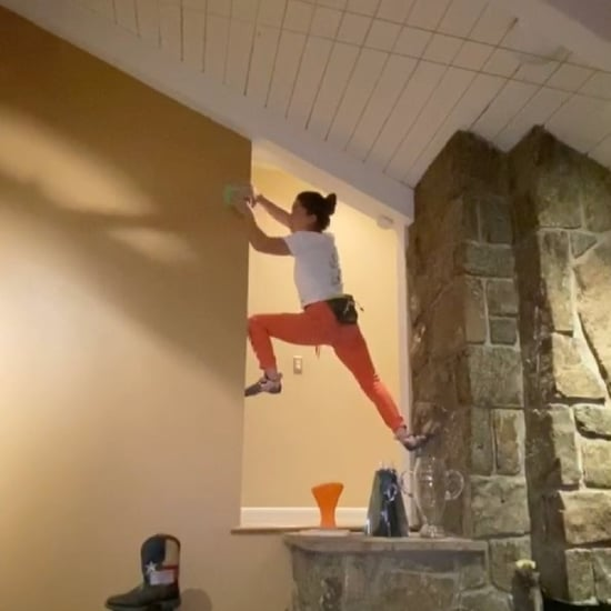 Brooke Raboutou Is Staying Active by Climbing Around House