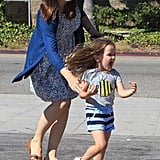 Jennifer Garner played with Seraphina Affleck.