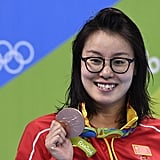 When a Chinese swimmer ignored taboos and talked about her period.