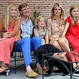 The Dutch royal family posed with their pup Skipper.