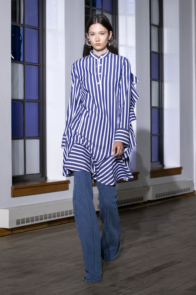 A Shirtdress Over Pants on the Adeam Runway During New York Fashion Week