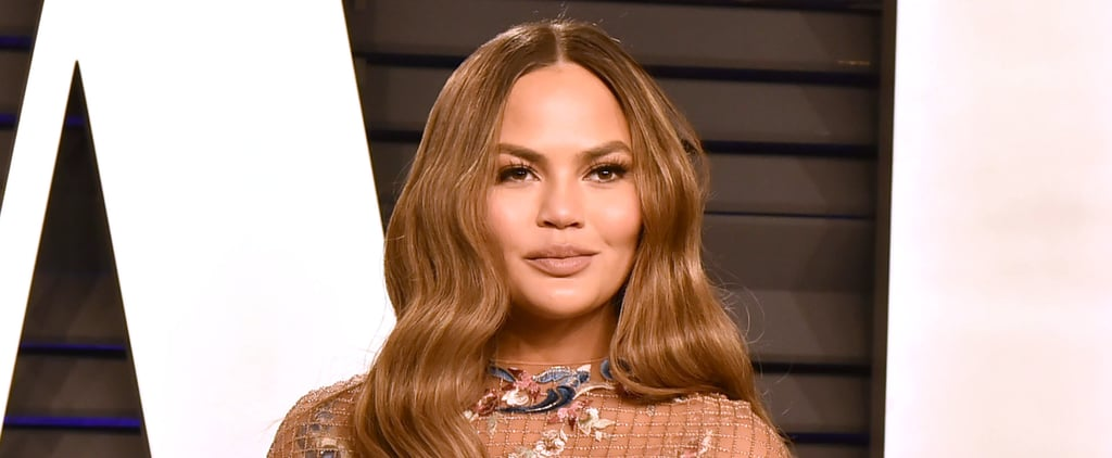 "Chrissy Teigen Brought Back the ""Rachel"" Haircut and Colour"
