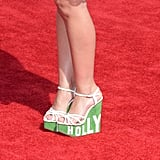 Rachel Antonoff strutted onto the red carpet in these strikingly tall Charlotte Olympia Hollywood wedges.