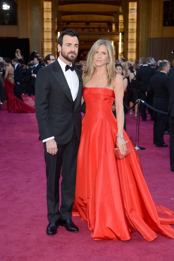 Justin let Jennifer stand out on the Oscars red carpet in 2013. She wore a Valentino Haute Couture gown with a matching red lizard minaudière by Salvatore Ferragamo.