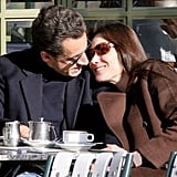 Nicolas Sarkozy and Carla Bruni shared a low-key lunch in France the day after their 2008 wedding.