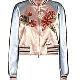 Valentino mytheresa.com online exclusive embellished satin bomber jacket ($6,790)