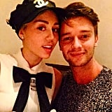 """Miley Cyrus and Patrick Schwarzenegger took a cute selfie. """"Luckiest guy in the world,"""" he wrote in the caption."""