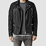 AllSaints Powel Leather Biker Jacket (£398)