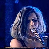 "Lady Gaga Singing ""Edge of Glory"" on Radio 1 Big Weekend in 2011"